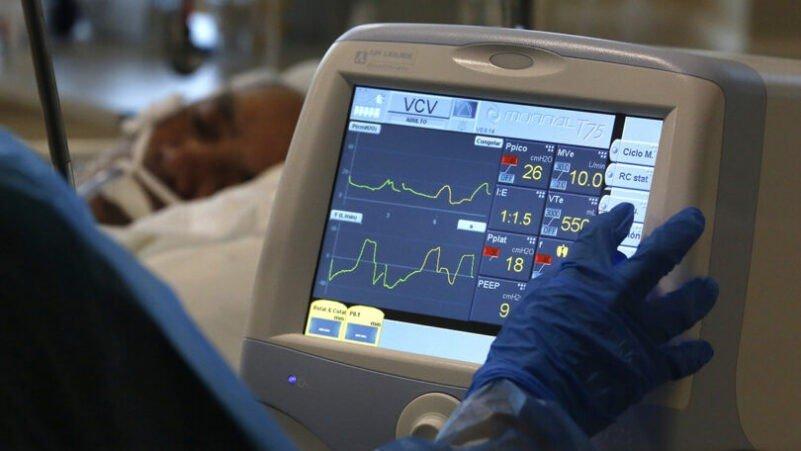 Enfermos de Covid-19 en Hospital Militar